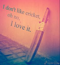 Searching for cricket quotes i. funny and inspirational quotes about cricket. Now no need to search for them, here I have compiled down so. Cricket Poster, Test Cricket, Cricket Sport, Cricket Bat, Live Cricket, Cricket Logo, Cricket Tips, Cricket Crafts, Dhoni Quotes