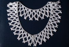 White crochet collar, White crochet necklace, Detachable collar, Lace collar, Crochet Jewelry,Women accessory