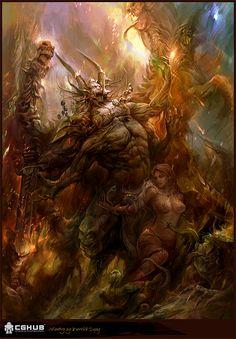 Demon of hell by derrickSong on DeviantArt