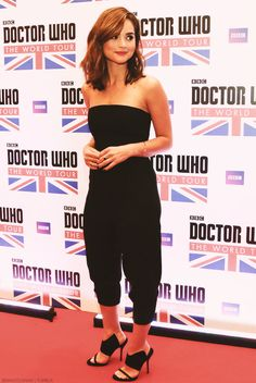 Jenna Colemanin Rio for the Doctor Who World Tour.