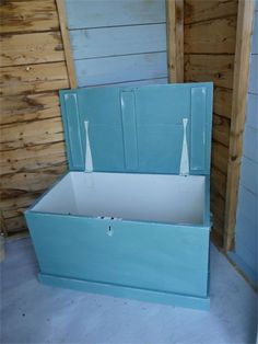 *SOLD* Vintage Toy Chest/Blanket Box : *Sorry, someone found me already and loved me. I am SOLD*  Hand painted in provence blue, distressed and waxed to seal and protect.  Only 1 available.  Price £80.00