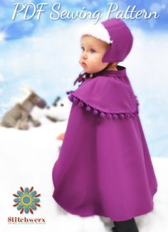 Princess Anna Style Hat & Cape Sewing Pattern by StitchwerxDesigns, also works great for sewing hat & capes for everyday wear!