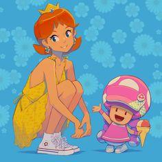 Multimedia, Daisy, Super Mario, Twitter, Cute Art, Princess Peach, Fan Art, Make It Yourself, Comics