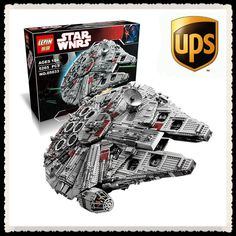 177.00$  Watch now - http://alitgp.worldwells.pw/go.php?t=32719583682 - LEPIN 05033 5265Pcs Star Wars Ultimate Collector's Millennium Falcon Model Building Kit Blocks Bricks Toy Compatible 10179 177.00$