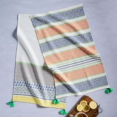 Fair Isle Striped Tea Towels (Set of 2)