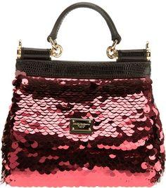 7d54ad9261f1 Dolce   Gabbana Sequined Miss Sicily Shoulder Bag Fab Bag