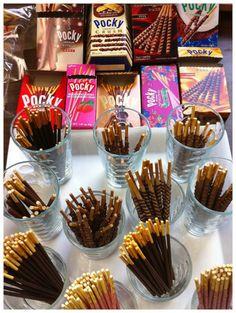 Pocky: the ultimate otaku snack. I don't see green tea pocky :( Japanese Snacks, Japanese Sweets, Japanese Food, Japanese Candy, Cute Food, Good Food, Yummy Food, Yummy Treats, Sweet Treats