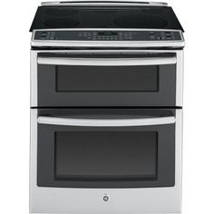GE Profile 6.6 cu. ft. Slide-In Double Oven Electric Range with Convection (Lower Oven) in Stainless Steel-PS950SFSS at The Home Depot
