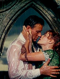 """John Wayne and Maureen O'Hara in  """"The Quiet Man""""a 1952 American Technicolor romantic comedy-drama film. It was directed by John Ford"""