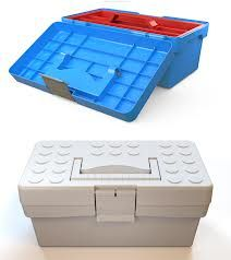A small plastic toolbox with lift out trays (or the trays that extend out) for art supplies.  Paper, scissors, pencils, crayons, stickers, everything. I had one when my kids were little and it was one of their favorite things.   Mine too, because everything was in the same place.