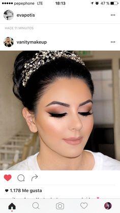 Amazing Wedding Makeup Tips – Makeup Design Ideas Simple Wedding Makeup, Wedding Makeup For Brown Eyes, Wedding Makeup Tips, Natural Wedding Makeup, Bridal Hair And Makeup, Bride Makeup, Wedding Hair And Makeup, Natural Makeup, Eye Makeup