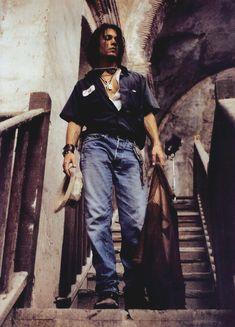 Johnny Depp by Julian Schnabel, 1999. °