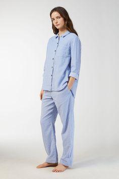 09d7b968b6 Double-Weave Pyjama Shirt - Blue White - Underwear   Loungewear - ARKET SI