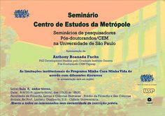 Seminário CEM na Universidade de São Paulo :: Centro de Estudos da Metrópole