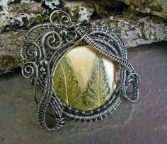 Gothic Botanical Pendant by Twisted Sister by twistedsisterarts, $59.95.  I have a couple of pieces by this artist and they are fabulous.  Find her at Etsy!