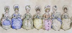 Tea Party, by Kate Greenaway (V&A Custom Print)