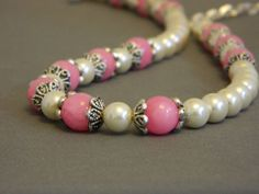 Pink Jade Necklace Set by nmarzoladesigns on Etsy, $28.00