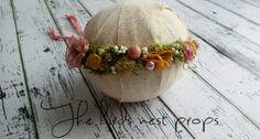 Organic headband ...newborn and children photography prop