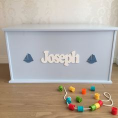 Here at Mr Toy Box we make Bespoke, Handmade Children's Toy Storage Boxes.  Our Toy Boxes are made from engineered fibre board. This strong material is great for use in modern homes, Solid woods can warp and crack over time in fluctuating temperatures in our homes, so using this alternative means you will have a quality piece of furniture for years to come. Our Toy Boxes are hand painted with a minimum of two coats of undercoat and two coats of acrylic Satin paint for a soft sheen finish…