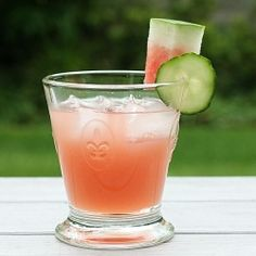 Watermelon Cucumber Gin & Tonic (First Look Then Cook) #watermelon #cucumber #gin #G #alcohol #drinks