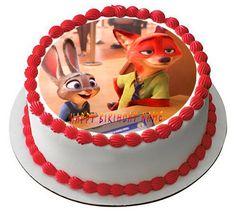 Zootopia Edible Cake Topper – Edible Prints On Cake (EPoC)