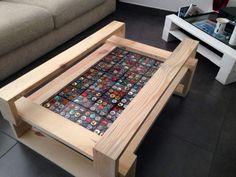 Tavolino da salotto in legno riciclato da pallet eco design