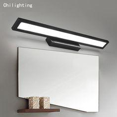 Горячие продажи современных 9 Вт СВЕТОДИОДНЫЙ настенный светильник зеркало лампа анод поверхности оксида отделка прикроватные ванная лампы алюминиевый материал