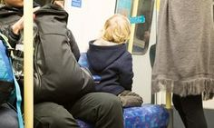 A young child on a tube