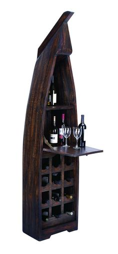Add a dash of class and individuality to your wine cellar with this Wooden Boat Wine which is a great addition to your home decor. The sections are built to accommodate wine and champagne bottles to preserve the aging process. The wooden exterior protects the liquor from humidity and other harm and adds a chic extravagance to any place you put it in. With ample sections to easily house 10 to 15 bottles, an extendable table is added to the boat to make serving simpler. Originating in…