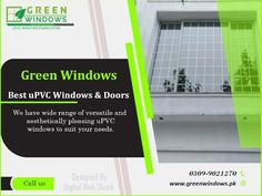 Green Windows offers the best quality uPVC windows, perfect sound treatment, the best user experience, High acoustic performance, Low-Frequency Control, Brands: Best Sound, Unique performance, and fantastic team works. Green Windows, Upvc Windows, Windows And Doors, Digital Web, User Experience, Acoustic, Unique, Design