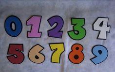 Números Em E.v.a. Altura: 10 cm Valor: 1.00 R$ cada.