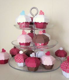 Cupcake Party Favor Boxes - Set of 36