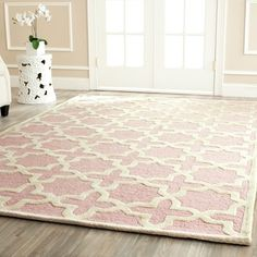 @Overstock - Safavieh Handmade Moroccan Cambridge Light Pink/ Ivory Wool Rug (7'6 x 9'6) - Safavieh's Moroccan Cambridge collection is inspired by timeless contemporary designs crafted with the softest wool available.  http://www.overstock.com/Home-Garden/Safavieh-Handmade-Moroccan-Cambridge-Light-Pink-Ivory-Wool-Rug-76-x-96/8861487/product.html?CID=214117 $311.94
