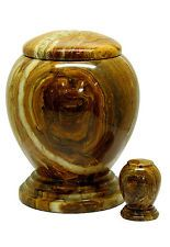 Outdoor Cremation Ashes Urn - Asian Marble (SU6221D) (Adult Size / Coffin)