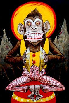 Jolly Chimp Art Print