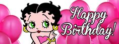 For more Betty Boop Facebook Timeline Covers and Banners, go to: For more Betty Boop Facebook Timeline Covers and Banners, go to: http://bettyboopcovers.blogspot.com/ and on Facebook  https://www.facebook.com/bettyboopcovers/photos_stream?tab=photos_albums - Happy Birthday! #BettyBoop surrounded by pink balloons #Birthday