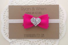 Hot pink and glitter headband  |  ryanandwren