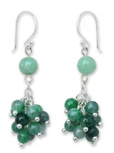 Jade cluster earrings, 'Abundance' NOVICA http://www.amazon.com/dp/B00F2V9XIW/ref=cm_sw_r_pi_dp_rvUSub07YWFJH