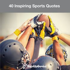 Motivate your team (or yourself) with these inspiring quotes from famous athletes and coaches. Motiveer je team (of jezelf) met deze inspirerende citaten van beroemde atleten en coaches. Wvu Football, Football Quotes, Softball, Mountaineers Football, Lacrosse, College Football, Volleyball, Cheerleading, Team Quotes
