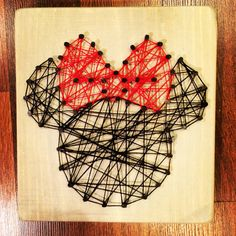 Minnie and Mickey Mouse String Art by LoveVintageButterfly on Etsy
