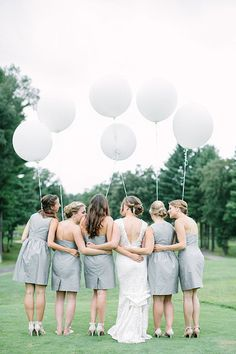 Balloons bring fun and whimsy to any wedding and take your photos to joyful new heights.