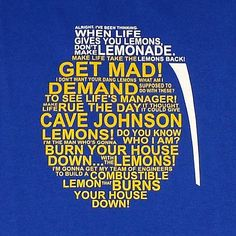 Cave Johnson Lemon Rant Brand Me Geek Shirt