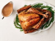 Garlic-Rosemary Turkey with Porcini : Fragrant garlic and rosemary are so crowd-pleasing that this recipe could become your annual go-to.