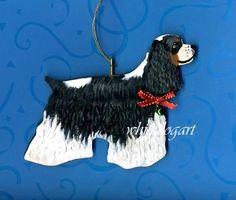 Custom Handpainted Cocker Spaniel Christmas Ornament by whitedogart on Etsy https://www.etsy.com/listing/168150145/custom-handpainted-cocker-spaniel