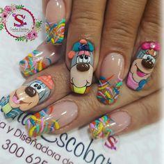 Pop Art Nails, Nail Art, Nail Designs, Tattoos, Beauty, Manicures, 3d, Google, Pretty Nails