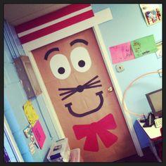 preschool bathroom door. Cat In The Hat- Decorate Bathroom Door. Preschool Door