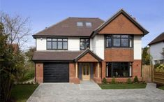5 bedroom detached house for sale in Greenhill Road, Otford, Sevenoaks, Kent, Two Story House Design, Sims House Design, House Cladding, Facade House, House Paint Exterior, Dream House Exterior, House With Porch, House Front, Style At Home