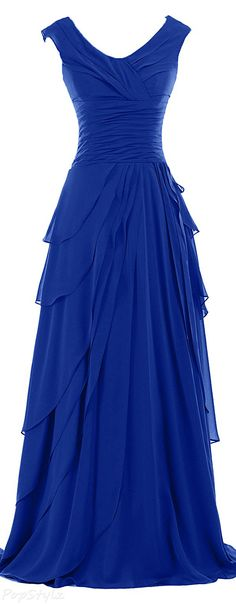 Sunvary Ruffled Chiffon A-Line Evening Gown Sunvary – gekräuseltes A-Line-Abendkleid aus Chiffon Trendy Dresses, Nice Dresses, Fashion Dresses, Formal Dresses, Wedding Dresses, Formal Hair, Wedding Shoes, Fashion 2018, Maxi Dresses