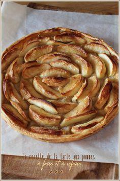 LA recette de la tarte aux pommes, à garder dans ses classeurs !