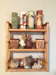 A small portion of my tiki mug collection-Wendy W.